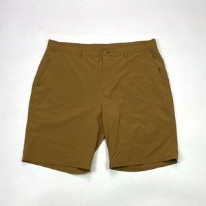 Old Navy Active Flat Front Tech Size 38 Rust Short